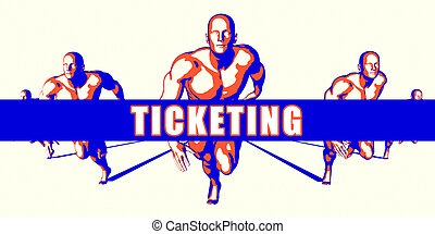Ticketing as a Competition Concept Illustration Art