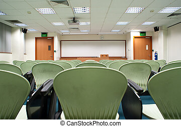 Seminar Room - Modern light green Seat arrangement in...