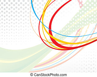 abstract colourful rainbow waves lines with grunge effect vector illustration