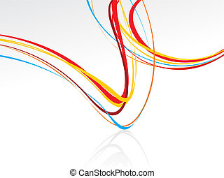 Abstract Colorful Background with Wave Vector Illustration | Free ...