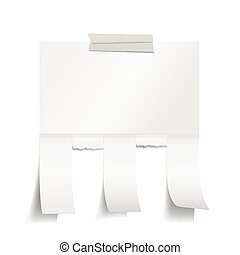 Blank white paper with tear off tab - Vector EPS 10 format.