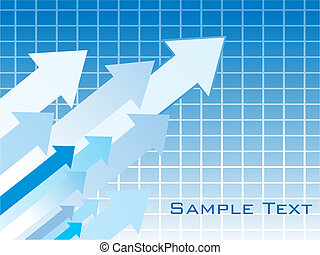 a growing business arrow chart theme background vector...