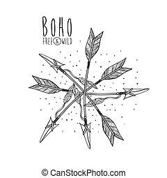 boho style design - boho style design, vector illustration...