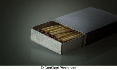 Match - Explosion of matches in a matchbox