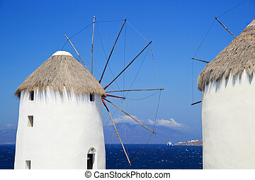 Greek island of Mykonos - View and special architecture...