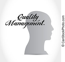 quality management thinking brain sign concept illustration...