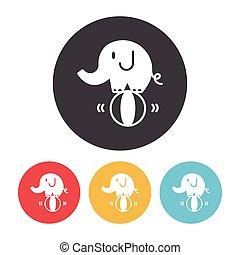 circus elephant icon