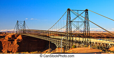 Cameron Suspension Bridge, built 1911, spans the Little...