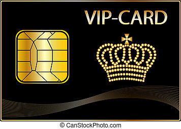 VIP Card with a golden crown