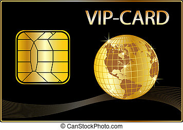 VIP Card with a golden Globe
