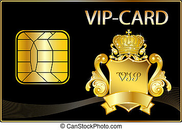 VIP Card wit a golden crest