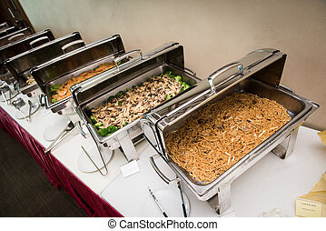 Sumptuous Asian buffet - Sumptuous buffet meal with variety...