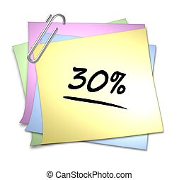 Memo with Paper Clip - 30 %