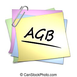 German Memo with Paper Clip - AGB