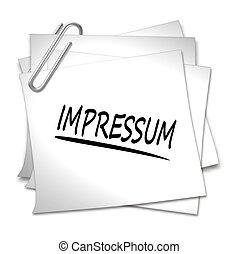 Memo with Paper Clip - Impressum