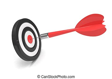 arrow darts in target