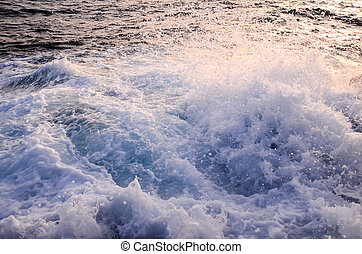 Strong Waves Crashing on the Volcanic Coast in Tenerife...