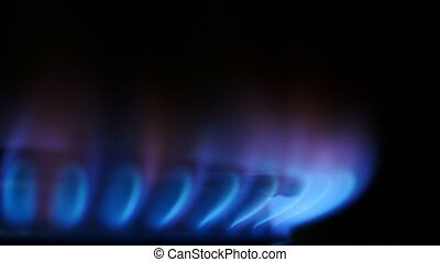 Energy Fossil fuel gas stove burner - Heat energy from...
