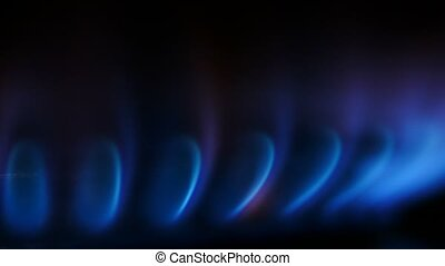 Natural Gas fossil fuel - Kitchen stove Gas burner - Heat...