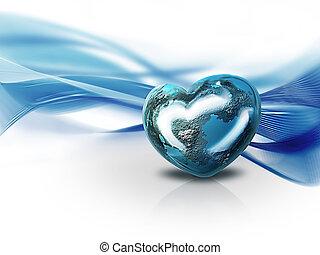 corazón, mundo