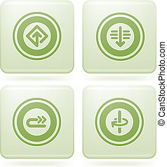 Olivine Square 2D Icons Set: Abstract & Directions - Bunch...