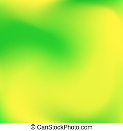 Abstract Blured Color Background - Abstract green and yellow...