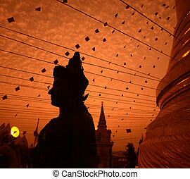ASIA THAILAND BANGKOK - the temple of the golden mount in...