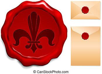 Fleur De Lis On Wax Seal
