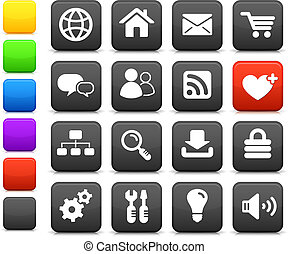 internet design icon set - Original vector illustration:...
