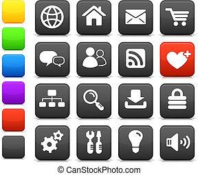Internet, desenho, ícone, jogo