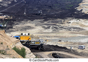 open pit coal mine mining industry