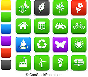 environment elements icon set