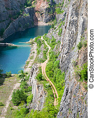 Old limestone quarry Big Amerika in Central Bohemia, Czech...