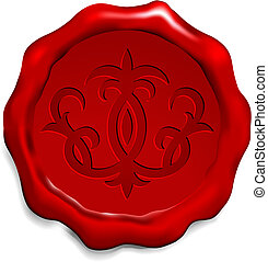 Fleur De Lis On Wax Seal Original Vector Illustration Wax...