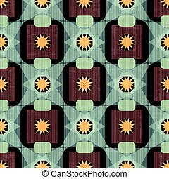 vintage abstract geometric colorful seamless pattern