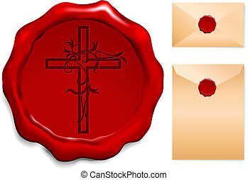 Cross on Wax Seal
