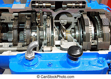truck automatic gearshift close detail