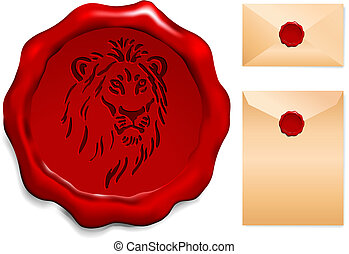 Lion on Wax Seal