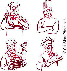 Chef Collection Original Vector Illustration