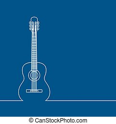Musical background, linear design, classic guitar. Place for...