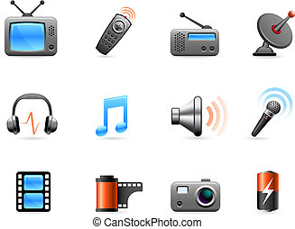 Electronics and Media icon collection