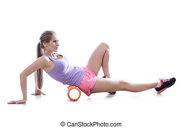 Sport - Workout. Woman in the gym