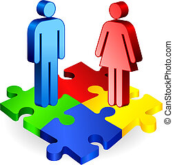 Complete Puzzle with Couple