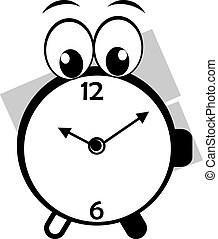 Clock - Illustration of a cartoon round clock