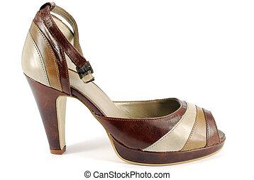 woman summer high heel shoe