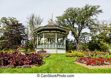 Gazebo Up Hill - A beautiful ornate gazebo in a public...