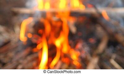 fire in blur background HD