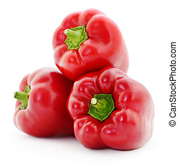 Three red peppers.