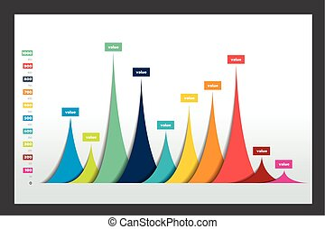 Vector 3D design statistics column graph, chart Design...