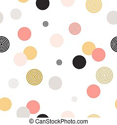 Circle pattern. Modern stylish texture. Repeating dot,...